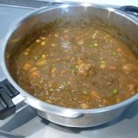 0活力鍋で時短料理「エビカレー」