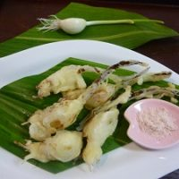 清流にんにくの天ぷらの作り方レシピ