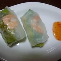 ベトナム料理!エビとアボカドの生はるまき