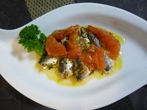 簡単・イタリア料理!イワシとトマトのビネガーソース♪
